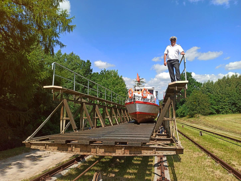 Pochylnia Buczyniec - rejspy pokanale Elbląskim, statkiem Zefir